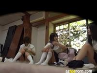 部活の合宿所で着替える女子校生を隠し撮り
