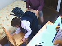 家庭教師が教え子のJCとセックスしている盗撮動画