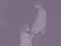 JKっぽい巨乳の女の子と青姦している男を暗視カメラで盗撮