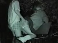 ムチムチJKのプリケツをバックから突きまくっている青姦盗撮