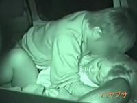 車の中でセックスしているヤンキーカップルを盗撮