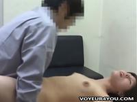 性行為を強要された挙句に膣内射精までされてしまうOLを盗撮