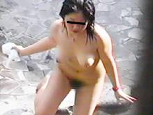 露天風呂でおっぱい、お尻、陰毛など個性豊かな女体を覗き見