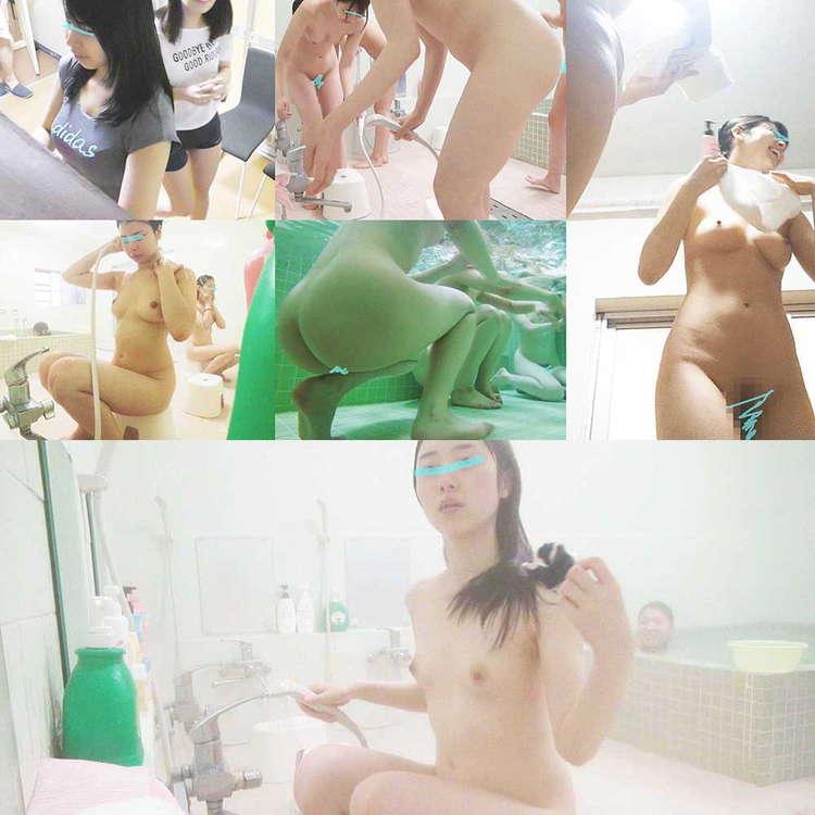 女子大合宿所の大浴場6